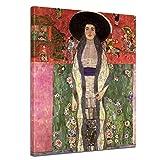 Bilderdepot24 Kunstdruck - Alte Meister - Gustav Klimt - Portrait der Adele Bloch-Bauer - 90x120cm XXL Einteilig - Leinwandbilder - Bilder als Leinwanddruck - Bild auf Leinwand - Wandbild