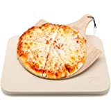 Hans Grill Pizza Stone Gift Set Voor Oven of BBQ / Grill | Grote Bak Stenen met BESTE Houten Pizza Schep GRATIS –IT. Pizza Bo
