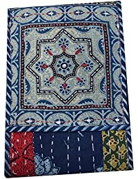 Srijanavari Handmade Designer Embroidered Rajasthani Clutch Bag For Women's(blue)