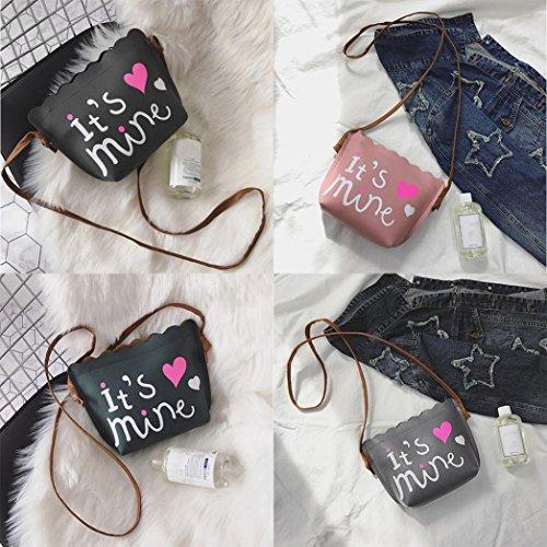 BZLine® Frauen Print geraffte Handtasche Crossbody Schultertasche Beutel Pink