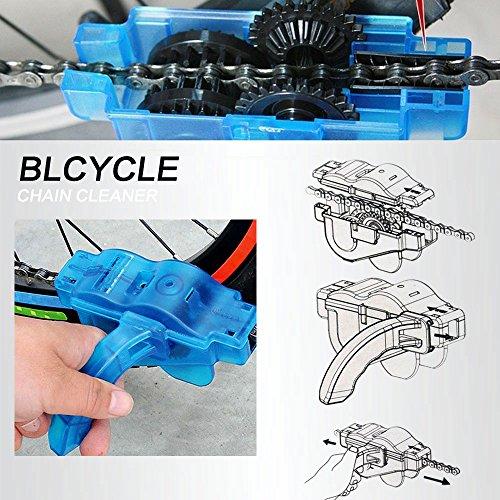 Mture Fahrrad Kettenreinigungsgerät Cycling Bike Bicycle Chain Cleaner – Blau - 3