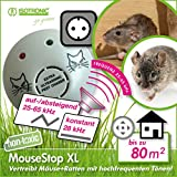 ISOTRONIC Mäuseabwehr Ultraschall Ratten- und Mäusevertreiber mobil Nagerabwehr Tiervertreiber Mäuseschreck für Garten Haus Keller und Dachboden Mäuse vertreiben ohne Chemie Rattenfalle Mausefalle