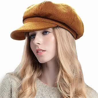 SIYWINA Cappello da Donna Newsboy cap Berretto Piatto con Visiera Cappello da Baker per Signore