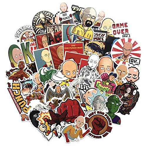 Templom SIX One Punch Man Graffiti Aufkleber Decals Auto Aufkleber Motorrad Fahrrad Skateboard Gepäck Handy Pad Laptop Aufkleber Anime Cartoon Bumper Patches Decals(50Stücke) -