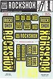 RockShox Aufklebersatz 35mm Neongelb, Boxxer/Domain Doppelkrone, 11.4318.003.516 Ersatzteile, gelb, Standrohre und Doppelbrücke