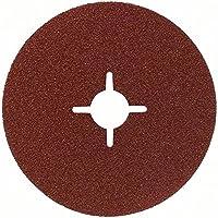 Bosch 2 608 605 468  - Disco lijador de fibra para amoladora angular, corindón - 115 mm, 22 mm, 100 (pack de 1)