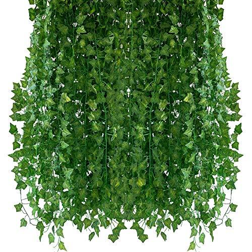 Homvik Plantas Hiedras Enredaderas Artificiales 24Pcsx2.2m