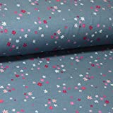 Pepelinchen Sommersweat Melly by Lila-Lotta - Kleine Blüten auf Blau/Grau