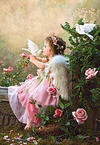 Hot 5D DIY Diamant Mosaik Stickerei Fairy Angel Diamond Gemälde Full Strass Kreuzstich Home Decor 40x50CM - Angeln Home Decor
