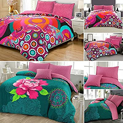 Janice Bohemian Boho Floral Duvet Cover Set - low-cost UK light store.