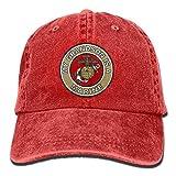 My Grandson is A Marine Unisex Adjustable Cotton Denim Hat Washed Retro Gym Hat Cap Hat