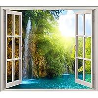 Stickersnews 5452 - Adesivo trompe l'oeil per finestre, soggetto: finestra