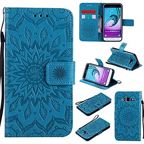 For Samsung Galaxy J3 Case [Blue],Cozy Hut [Wallet Case] Magnetic