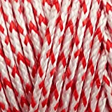 EMMAKITES 50lb/120lb Braided Dacron Line String WhiteRed Contrasting Color for Kite Flying Outdoor Activities