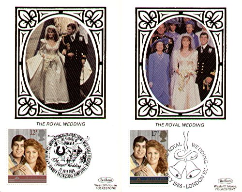 1986nozze reali di principe Andrew Benham seta biglietti con primo giorno di rilascio (set da 2) - 1986 Prima Emissione