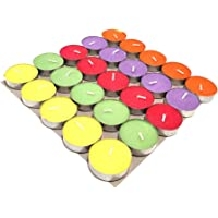 Puja N Pujari wax Tea Light Candles, Pack of 25, Unscented