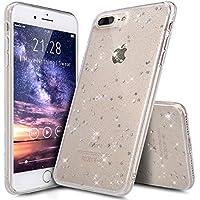 iPhone 8 Plus Hülle,iPhone 7 Plus Hülle,ikasus Shiny Glänzend Bling Glitzer Sterne Pailletten Diamant Muster Durchsichtig TPU Silikon Handy Hülle Handyhülle Schutzhülle für iPhone 8 Plus/7 Plus,Klar A