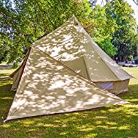 tenty.co.uk Boutique Camping Bell Tent Triangle Tarp - Sandstone