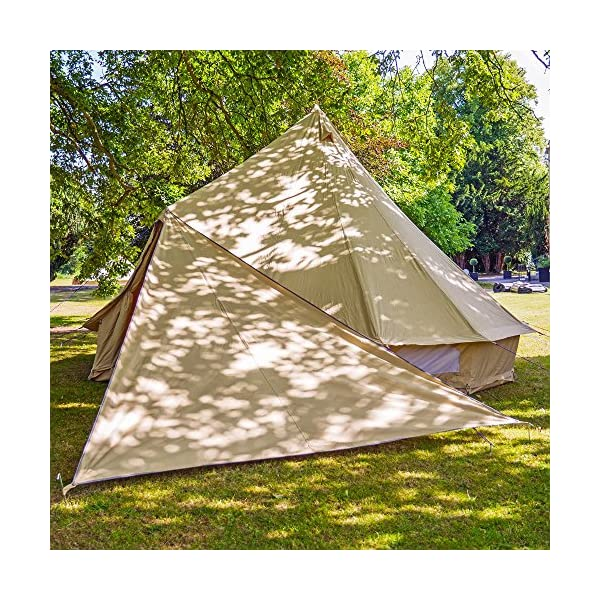 Boutique Camping Bell Tent Triangle Tarp - Sandstone 1