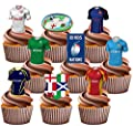 Rugby Six Nations Party Pack, Cake Decorations - Edible Stand-up Cupcake Toppers (36 pack)