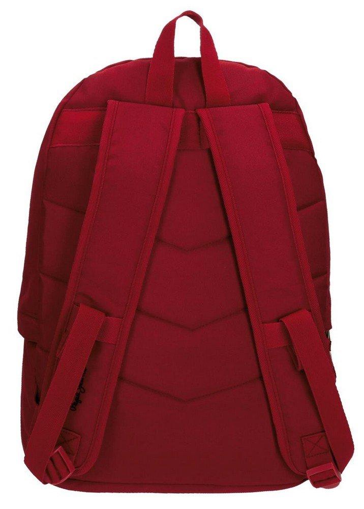 61LThlecoYL - Pepe Jeans Harlow Mochila Escolar, 42 cm, 22.79 litros, Rojo