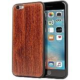 Funda iPhone 6 Plus / 6s Plus, Carcasa Snugg Anti-Impactos para Apple iPhone 6 Plus / 6s Plus [Madera Genuina] Ultrafina Revestimiento de TPU - Palo de Rosa