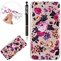 SainCat Funda iPhone 6 plus/6S Plus, TPU Funda Carcasa Pintado Patrón Cover Bumper Funda para iPhone 6 plus/6S Plus-Flor Grande