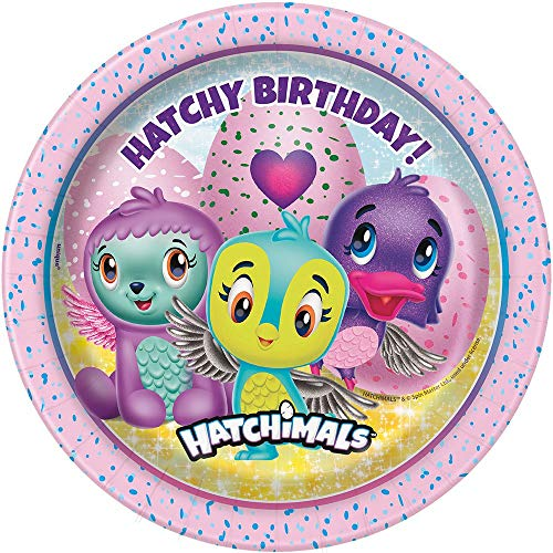 Unique Party 59304 hatchimals placa de papel, 18 cm