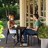 Koll Living Terrassen-Set/Lounge Set/Bistro-Set: 2X Stühle, 1x Mosaik-Tisch, braun - In toller Mosaik Optik