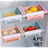 JD Brand Fridge Space Saver Organizer Slide Storage Rack Shelf Drawer, Fridge Storage containers for Vegetables, Fridge…