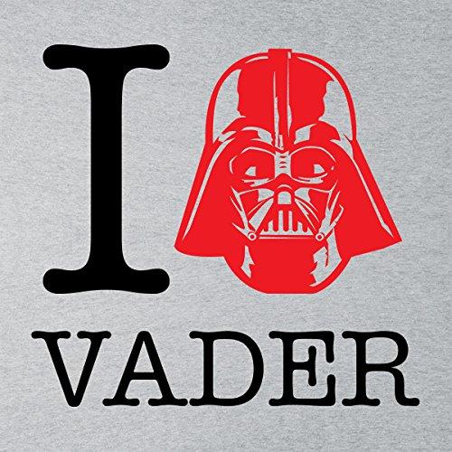 Star Wars Rogue One I Heart Darth Vader Black Women's Vest Heather Grey
