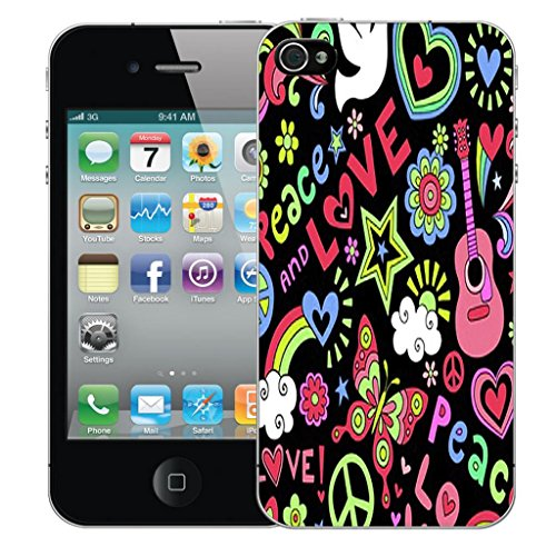 Mobile Case Mate iPhone 4s clip on Dur Coque couverture case cover Pare-chocs - mexican owls Motif love and peace