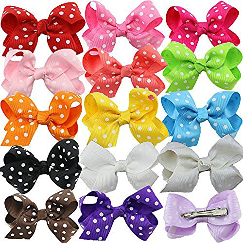 boutique-kids-bow-polka-dot-hair-bow-for-baby-girls-kids-hair-pin-clips-baby-accessories