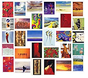 Super Value Pack of 30 Blank Greetings Cards For all Occasions Greetingsbox Exclusive Photographic, Scenic & Artwork Cards