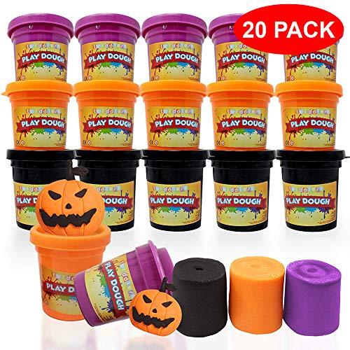 (20 Dosen mit farbigen Tonmasse – ideal für Halloween-Leckereien, Trick & Treaters, Partygeschenke, Play-Doh & Pinatas)
