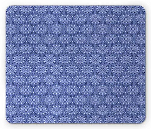 High Trellis (Moroccan Trellis Mouse Pad, Squares with Oriental Sun and Flower Motifs Middle Eastern Folklore, Standard Size Rectangle Non-Slip Rubber Mousepad, Purple Lavender 9.8 X 11.8 inch)