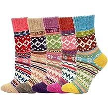 KOOYOL calcetines mujer termicos Mujer invierno 5 Pares