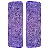 Summerwindy 2 Microfibre Mops for Floor Wash Broom Pack Replacement warranty valid for Washable Life 42cm x 38cm x 14,5cm Floor Cleaning Wipes (2 in total)