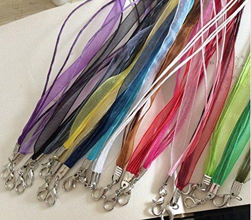 uctop Store 2045,7cm gemischt Seide Organza Band Halskette Strap Kordel Kette -