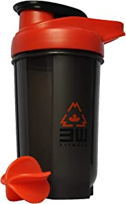 Protein Shaker Bottle 500ML with Whisk Ball - BPA/Phtalate Free, Bacteria & Odor Free, Leak Proof, Carrying Handle, Dishwashe
