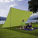 Berger Tarp grün, in verschiedenen Größen, Sonnenschutz für Garten Terasse Camping und Strand (4 x 3 m)