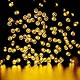 lederTEK, Solar Lichterkette LED Außen Warmweiß 22m 200LED 8 Modi Außenlichterkette Wasserdicht mit Lichtsensor Weihnachtsbeleuchtung Beleuchtung für Weihnachten
