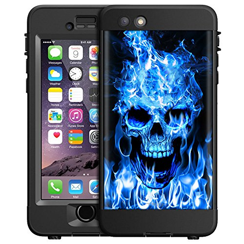 skin-decal-for-lifeproof-nd-apple-iphone-6-plus-case-blue-flaming-skull-on-black