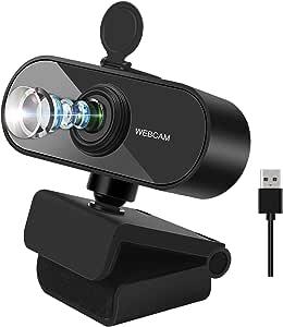 f/ür Live-Streaming Spiel JEEMAK Webcam mit Mikrofon Autofokus 1080P Videochat USB Webkamera mit Privacy-Schutzabdeckung und Stativ kompatibel mit PC Online-Unterricht Konferenz