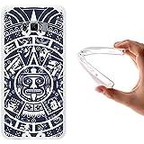 Funda Samsung Galaxy S8 Edge - Plus, WoowCase [ Samsung Galaxy S8 Edge - Plus ] Funda Silicona Gel Flexible Calendario Azteca, Carcasa Case TPU Silicona - Transparente
