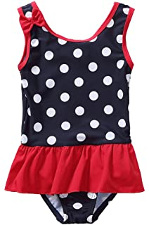 dPois Baby M/ädchen Badeanzug Neckholder Tankini Bikini Kleinkind Gestreift Schwimmanzug Babykleidung S/äugling Beachwear 62 68 80 86 92 98