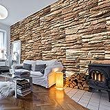 murando - Fototapete Steinoptik 3D 500x280 cm - Vlies Tapete -Moderne Wanddeko - Design Tapete - Steine Stein Steinwand Steinmauer 3D f-A-0466-a-c