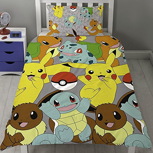 Pokemon Go Catch Set Copripiumino Letto Singolo Inc. Federa