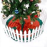 wonderfulwu Zaun, Weiß Kunststoff Lattenzaun Miniatur Home Garten Weihnachten Xmas Tree Hochzeit Party Dekoration Zaun