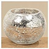 Windlicht Crackle H6 D10cm Glas lackiert